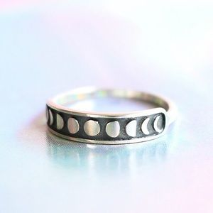 Jewelry - Sterling Silver Moon Phase Ring